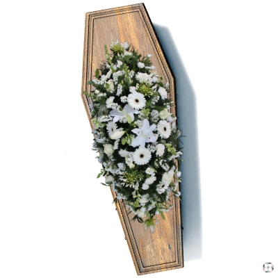Pure Casket Funeral Spray