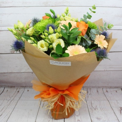 vintage-mandarin-handtie-bouquet-flowers-delivery-strood-rochester-medway-kent