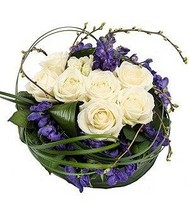 Purple and White Posy.