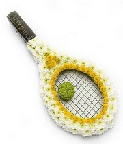 Tennis Racket Funeral Tribute.