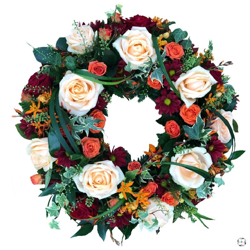 Autumnal Funeral Wreath Buy Online Or Call 01634 716154