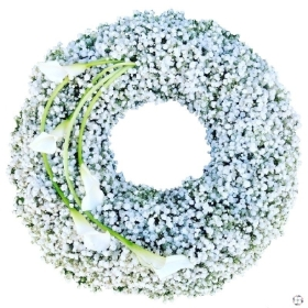 gypsophila-wreath-funeral-flowers-tribute-delivered-strood-rochester-medway