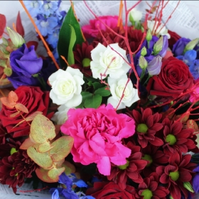 firework-fall-autumn-flowers-handtie-bouquet-delivery-strood-rochester-medway-kent