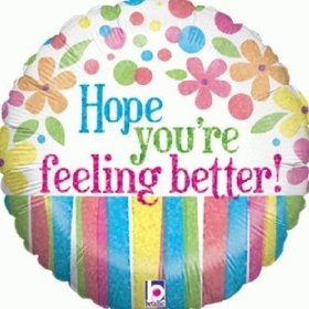 hope-you're-feeling-better-get-well-soon-balloon-flowers-delivery-strood-rochester-medway-kent