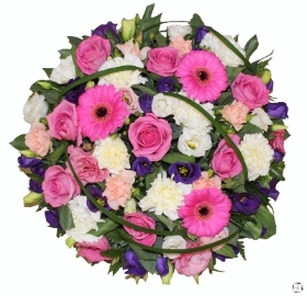 Pink Rose Funeral Posy Pad